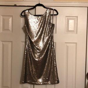 Brand new gold sequin WHBM sheath dress